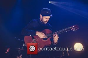 Shots of English singer songwriter Nick Mulvey as he performed live on stage at the Roundhouse in North London, United...