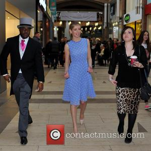 Rachel Riley - TV presenter Rachel Riley hosts a Top Swap clothing drive at Touchwood. The first 500 guests to...