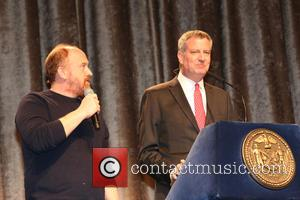 Louis C.K and Bill de Blasio - 2015 Inner Circle Dinner held at the New York Hilton at New York...