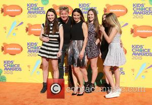 Gordon Ramsay and Family - A host of stars were snapped as they arrived for Nickelodeon's 28th Annual Kid's Choice...