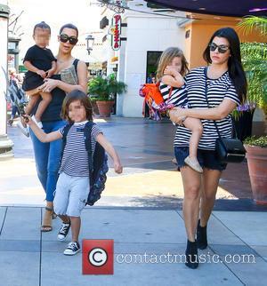 Kim Kardashian, Kourtney Kardashian, North West, Mason Disick and Penelope Disick