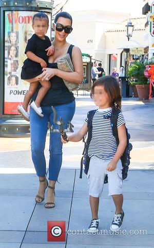 Kim Kardashian, North West and Mason Disick