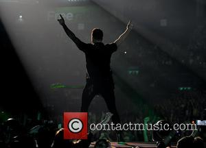 Danny Jones - Shots of British super group made up of McFly and Busted 'McBusted' as they performed live in...