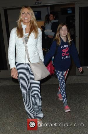 Tess Daly and Phoebe Kay - Tess Daly and husband Vernon Kay arrive at Los Angeles International (LAX) airport with...