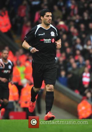 Luis Suarez - Steven Gerrard held a fundraising match at Anfield in aid of Alder Hey Hospital, Claire House and...