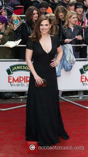 Hayley Atwell - A host of stars were snapped on the red carpet as they arrived for the Jameson Empire...