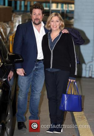 Michael Ball and Victoria Wood - Michael Ball and Victoria Wood outside ITV Studios - London, United Kingdom - Monday...