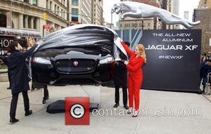 Christina Hendricks - JAGUAR to reveal the All-NEW 2016 XF along with Christina Hendricks at the Flatiron Square in New...