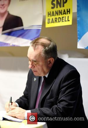 Alex Salmond - Alex Salmond was also asked to sign copies of his book at Energy Assets Arena - Livingston,...