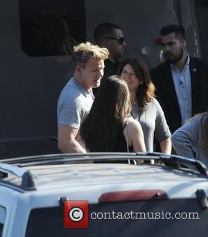 Gordon Ramsay - Shots of American pop star Jennifer Lopez as she arrived to the recording of American Idol wearing...
