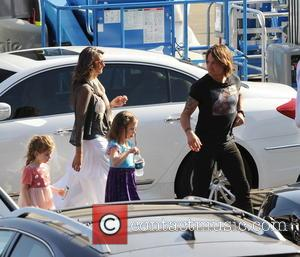 Keith Urban - Shots of American pop star Jennifer Lopez as she arrived to the recording of American Idol wearing...