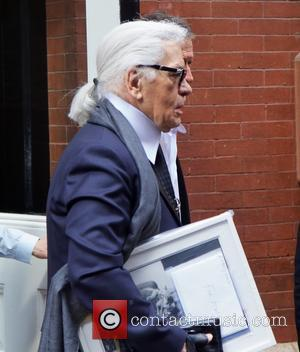 Karl Lagerfeld - Karl Lagerfeld seen in Soho in New York City - New York City, New York, United States...