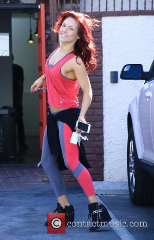 Sharna Burgess - Celebrities at the 'Dancing With The Stars' rehearsal studios at Dancing With The Stars rehearsal studio -...