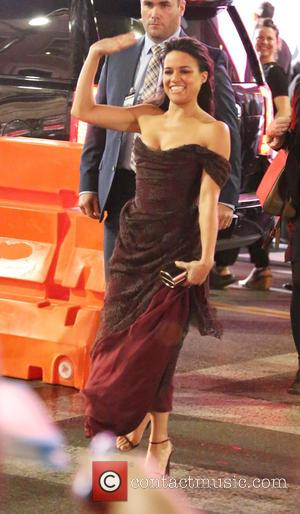 Michelle Rodriguez - World premiere of 'Furious 7' at the TCL Chinese Theatre IMAX - Outside Arrivals - Los Angeles,...