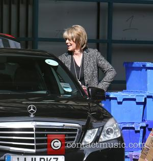 Ruth Langsford - Ruth Langsford and Eamonn Holmes leaving the ITV Studios in separate cars - London, United Kingdom -...