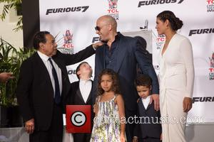 Irving Vincent, Vin Diesel, Guest, Hania Riley Sinclair, Vincent Sinclair and Paloma Jiménez