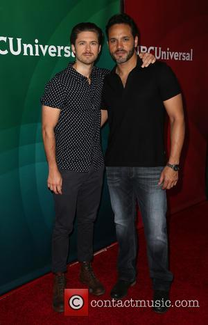 Aaron Tveit and Daniel Sunjata - 2015 NBCUniversal Summer press day - Arrrivals at The Langham Huntington Hotel and Spa...