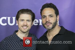 Aaron Tveit and Daniel Sunjata - Celebrities attend 2015 NBCUniversal Summer Press Day at The Langham Huntington Hotel & Spa...