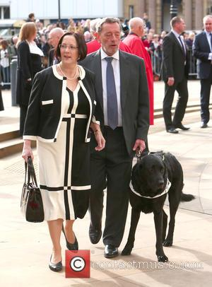 David Blunkett - Maundy Service at Sheffield Cathedral - Sheffield, United Kingdom - Thursday 2nd April 2015