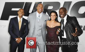 Ludacris, Dwayne Johnson, Michelle Rodriguez and Tyrese Gibson