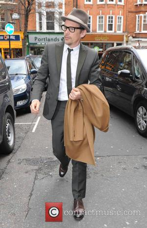 Shots of American actor Ethan Hawke as he arrived in to the BBC Radio 2 studios in London, United Kingdom...