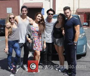 Lindsay Arnold, Alan Bersten, Sasha Farber, Brittany Cherry and Henry Byalikov - Celebrities outside the 'Dancing With The Stars' rehearsal...