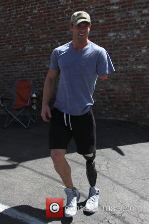 Noah Galloway - Celebrities outside the 'Dancing With The Stars' rehearsal studios - Los Angeles, California, United States - Friday...