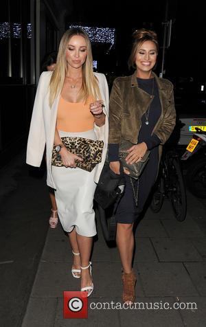 Lauren Pope and Ferne McCann - Ferne McCann, Jessica Wright and Lauren Pope enjoy a night out in Mayfair -...