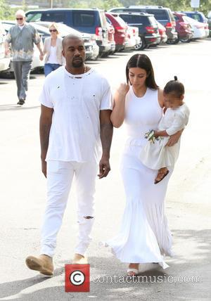Kanye West, Kim Kardashian and North West - Shots of the extended Kardashian-Jenner family as they all attended church on...