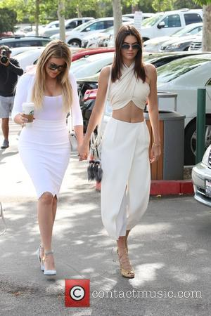 Khloe Kardashian and Kendall Jenner - Shots of the extended Kardashian-Jenner family as they all attended church on Easter Sunday...
