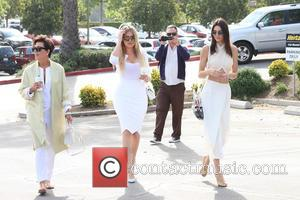 Kris Jenner, Khloe Kardashian and Kendall Jenner - Shots of the extended Kardashian-Jenner family as they all attended church on...