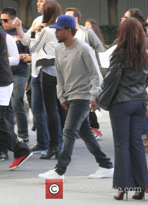 Kendrick Lamar - Hip-hop artist Kendrick Lamar  arrives at the Lakers v Clippers game at Staples Center at Staples...