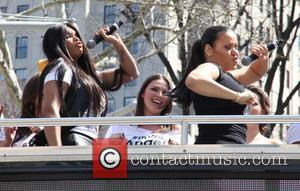 Salt N Pepa, Salt-N-Pepa, Cheryl James and Sandra Denton - Lane Bryant celebrates the launch of their campaign #ImNoAngel with...