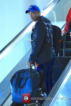 Sugar Ray Leonard - Sugar Ray Leonard arrives at Los Angeles International (LAX) airport at LAX - Los Angeles, California,...