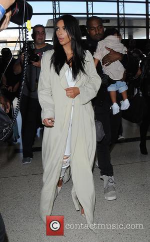 Kim Kardashian, Kanye West and North West