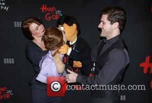Avenue Q cast, Kate Monster, Stacie Bono, Princeton and Seth Rothberg - A host of celebrities were photographed as they...