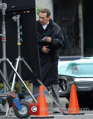 Paul Reubens - Paul Reubens spotted filming 'Pee-Wee's Big Holiday' in Fillmore, California - Fillmore, California, United States - Tuesday...