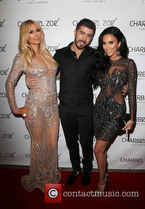 Paris Hilton, Charbel Zoe and Lilly Ghalichi