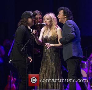 Kevin Drew, Damon Fox, Courtney Love and Andy Kim