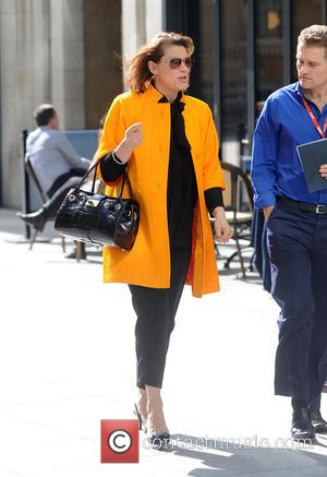Natasha Kaplinsky - Natasha Kaplinsky spotted enjoying the sunshine outside The BBC - London, United Kingdom - Tuesday 7th April...