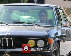 Olivier Martinez - Olivier Martinez driving a vintage BMW in Beverly Hills - Beverly Hills, California, United States - Wednesday...