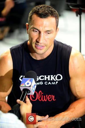 Wladimir Klitschko - The Undisputed Heavyweight World Champion boxer Wladimir Klitschko attends a media workout at Lucky Street Gym. Klitschko...