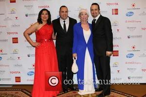 Rita Moreno, Lin-manuel Miranda and Jose Calderen