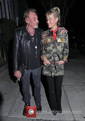 Johnny Hallyday and Laeticia Hallyday