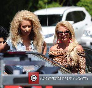 See Britney Spears And Iggy Azalea Go Back In Time On The Set Of 'Pretty Girls' Video [Pictures]