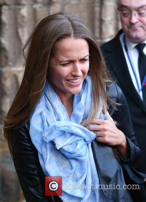 Kim Sears - Andy Murray and Kim Sears leave Dunblane Cathedral after the rehearsal prior to their wedding - Dunblane...