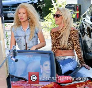 Britney Spears and Iggy Azalea - American pop star Britney Spears and Australian rapper Iggy Azalea were seen as they...