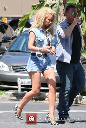 Iggy Azalea - American pop star Britney Spears and Australian rapper Iggy Azalea were seen as they both shot a...