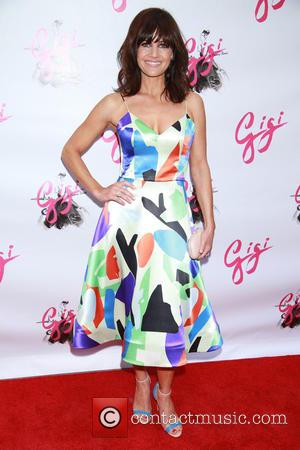 Carla Gugino wearing Novis - Shots of a host of stars as they arrived for the opening night of Broadway...