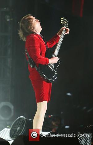Angus Young and AC/DC - Coachella 2015 - Week 1 - Day 1 - Performances at Coachella - Los Angeles,...